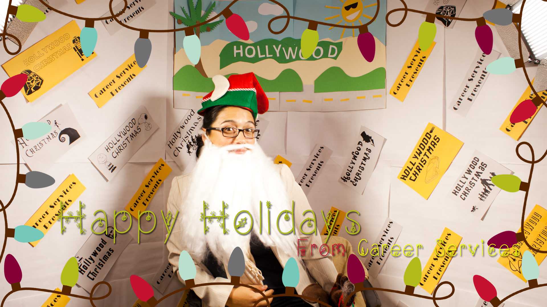 Young woman at 2013 Hollywood Christmas party - Pepperdine GSEP