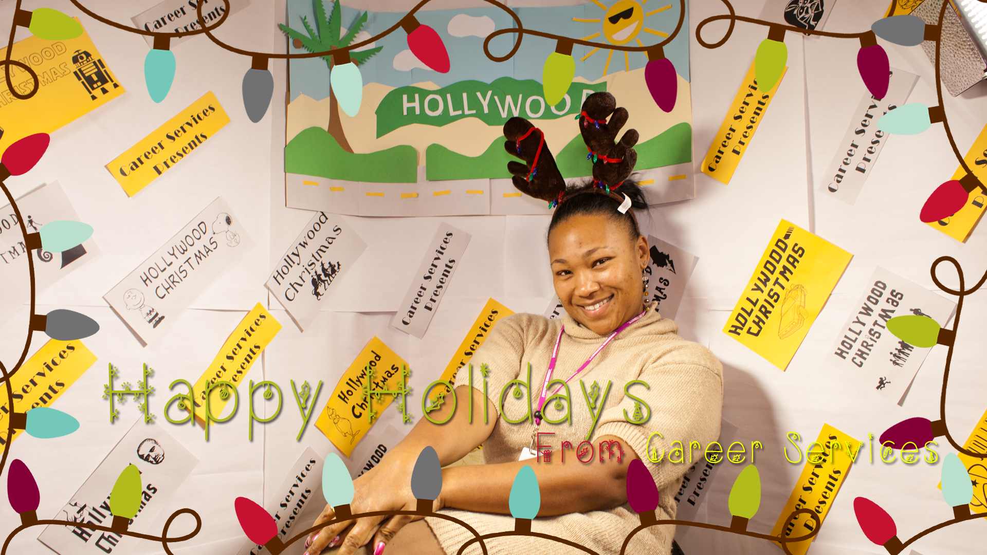 Smiling woman at 2013 Hollywood Christmas party - Pepperdine GSEP