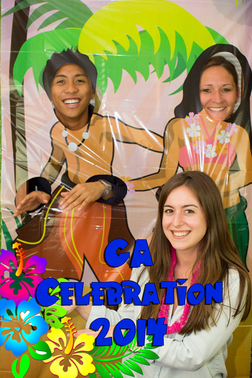 Three people take picture at 2014 GA Celebration - Pepperdine GSEP