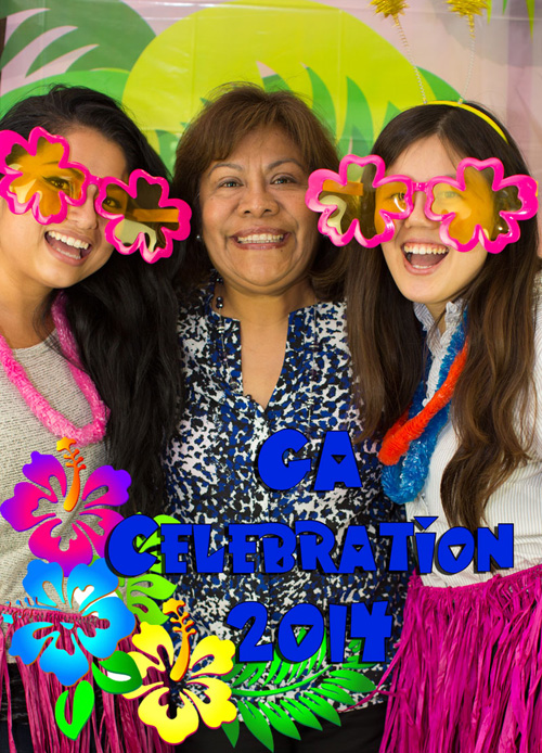 Three guests take picture at 2014 GA Celebration - Pepperdine GSEP