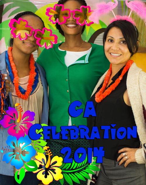 Three women take picture at 2014 GA Celebration - Pepperdine GSEP