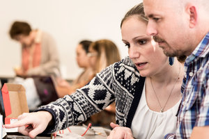 Two students work together in class - Pepperdine GSEP