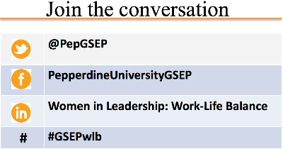 Women In Leadership Join the Conversation chart - Pepperdine GSEP