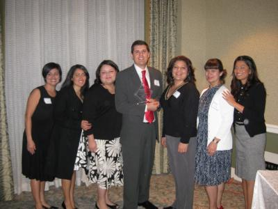 A group photo with an award winner at CABE 2010 event - Pepperdine GSEP