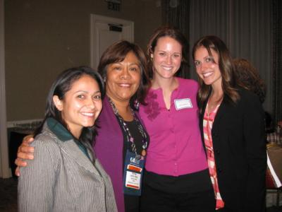 Four women at CABE 2010 event - Pepperdine GSEP
