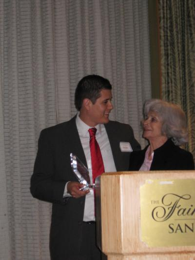 Two people at the podium at CABE 2010 event - Pepperdine GSEP