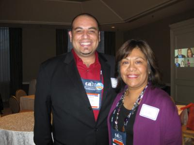 Two people pose for a picture at CABE 2010 event - Pepperdine GSEP