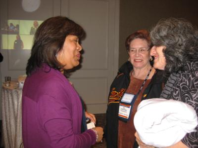 Women talking at CABE 2010 event - Pepperdine GSEP