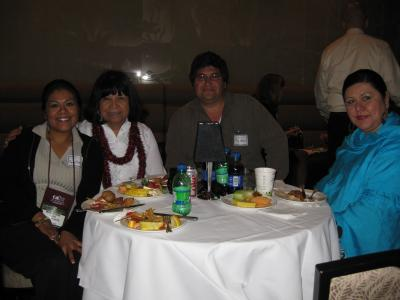 People at dinner table at CABE 2009 event - Pepperdine GSEP