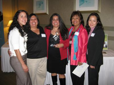Five women at CABE 2009 event - Pepperdine GSEP