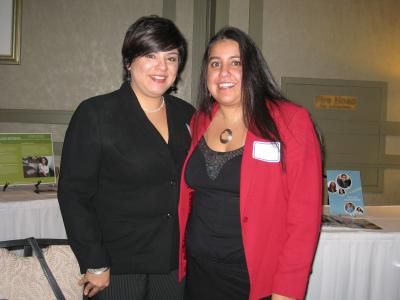 Two people at CABE 2009 event - Pepperdine GSEP