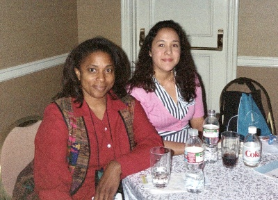 Two women sit at a table at CABE 2008 event - Pepperdine GSEP