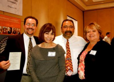 Group pose for picture at CABE 2011 event - Pepperdine GSEP