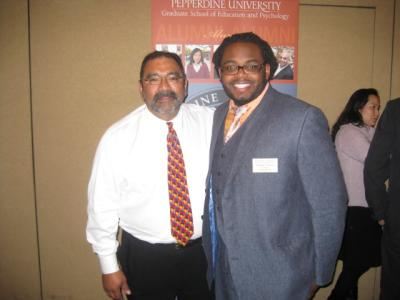 Two men at CABE 2011 event - Pepperdine GSEP
