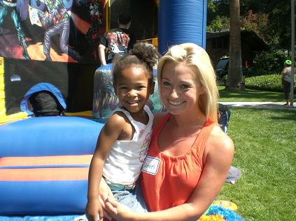 Woman and girl at Step Forward Day 2008 - Pepperdine GSEP