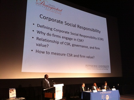 Corporate social responsibility lecture - Pepperdine GSEP
