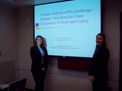 Students give psychology presentation - Pepperdine GSEP