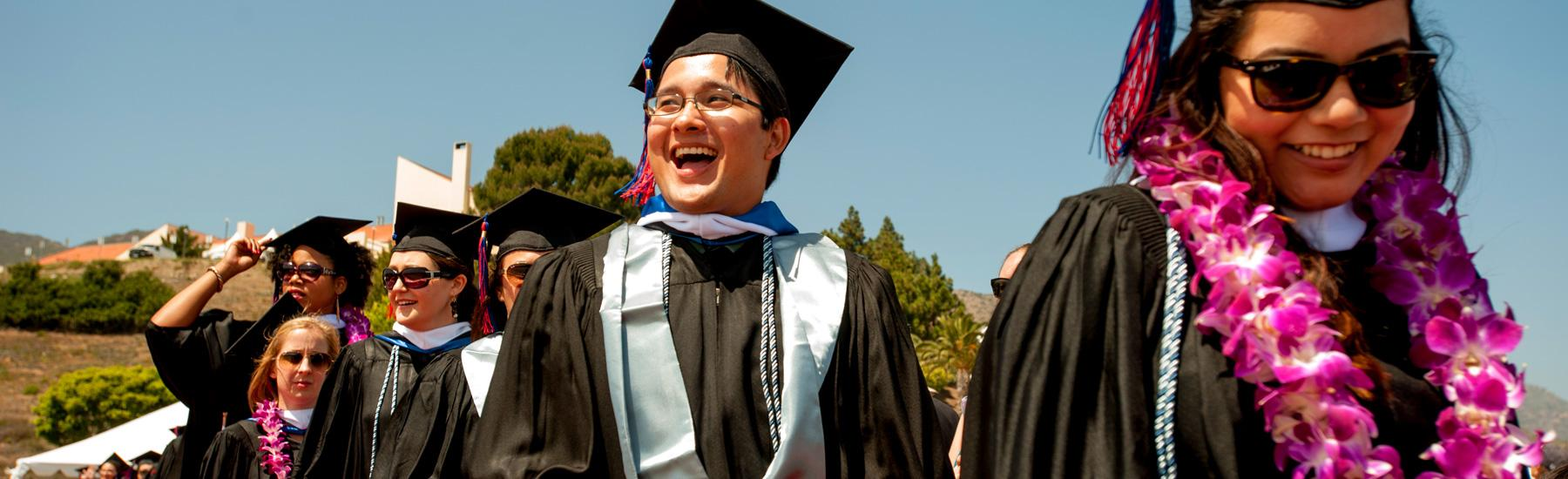 GSEP students line up at graduation ceremony - Pepperdine GSEP